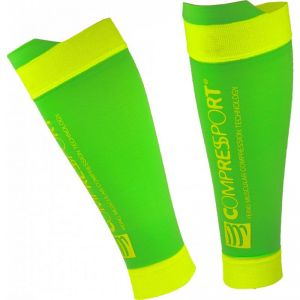 Skarpety kompresyjne Compressport Calf R2 V2 Fluo Green R2V2-FL6140