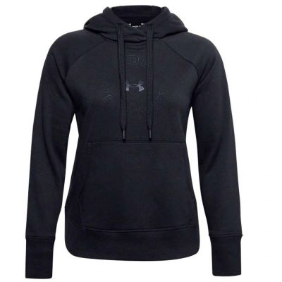Bluza sportowa Under Armour Rival Fleece Metallic Hoodie W 1356323 001